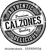 vintage style calzone italian... | Shutterstock .eps vector #555909556