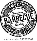 vintage barbecue bbq menu... | Shutterstock .eps vector #555909562