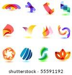 modern colorful symbols for...