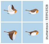 illustration of cartoon flying...   Shutterstock . vector #555913528