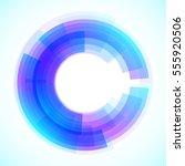 geometric frame  vector... | Shutterstock .eps vector #555920506