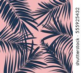 vector summer exotic floral... | Shutterstock .eps vector #555925432
