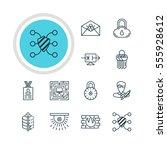 vector illustration of 12 data... | Shutterstock .eps vector #555928612