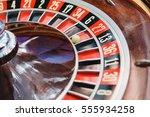 roulette wheel in casino   Shutterstock . vector #555934258