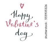 happy valentine's day  ... | Shutterstock .eps vector #555935326