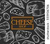 cheese shop milk organic vector ... | Shutterstock .eps vector #555936706