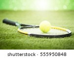 Close Up Of Tennis Racket With...