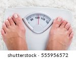 low section of overweight obese ... | Shutterstock . vector #555956572