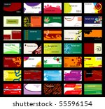 set of various business cards....   Shutterstock .eps vector #55596154
