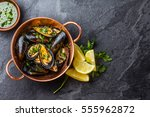 Shellfish Mussels In Copper...