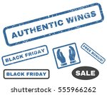 authentic wings rubber seal... | Shutterstock .eps vector #555966262