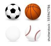 sports balls set. football ... | Shutterstock .eps vector #555967786