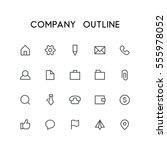 company outline icon set   home ...
