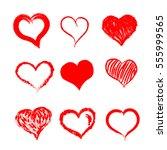 heart hand drawn | Shutterstock .eps vector #555999565