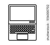 laptop computer isolated icon... | Shutterstock .eps vector #556000702