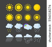 set of weather icons vector. | Shutterstock .eps vector #556018276