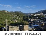 beautiful mountain view with... | Shutterstock . vector #556021606