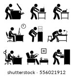 employees using office... | Shutterstock . vector #556021912