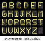 digital terminal table led font ... | Shutterstock .eps vector #556032028