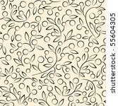 floral pattern vector | Shutterstock .eps vector #55604305