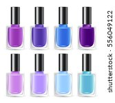 set of color nail polish  ... | Shutterstock .eps vector #556049122