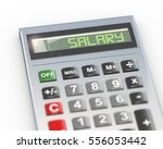 3d illustration of calculator... | Shutterstock . vector #556053442