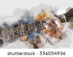 abstract beautiful man playing...   Shutterstock . vector #556054936