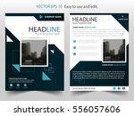 blu square annual report... | Shutterstock .eps vector #556057606