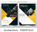 yellow black brochure annual... | Shutterstock .eps vector #556057612