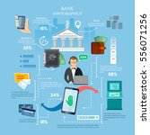 mobile bank infographics... | Shutterstock .eps vector #556071256