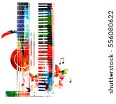 colorful synthesizer and... | Shutterstock .eps vector #556080622