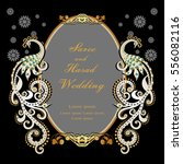 vintage invitation and wedding... | Shutterstock .eps vector #556082116