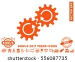 orange gear mechanism rotation... | Shutterstock .eps vector #556087735