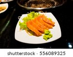salmon sushi | Shutterstock . vector #556089325