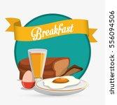 Breakfast Eggs Juice Bread...