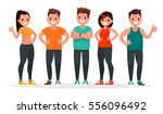 group of people dressed in... | Shutterstock .eps vector #556096492
