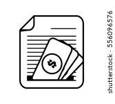 document paper file money bill... | Shutterstock .eps vector #556096576