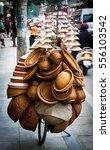 vietnamese selling handcraft... | Shutterstock . vector #556103542