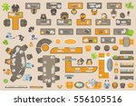 Vector Set Of Office. People A...