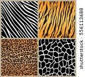 Set Safari Jungle Animal Fur...
