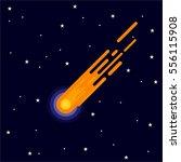 comet in space illustration... | Shutterstock .eps vector #556115908