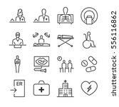hospital and medical line icon... | Shutterstock .eps vector #556116862