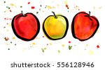 a freehand vector  watercolor... | Shutterstock .eps vector #556128946