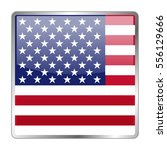 usa vector icon flag. isolated... | Shutterstock .eps vector #556129666