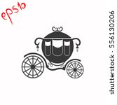 carriage grey icon. | Shutterstock .eps vector #556130206