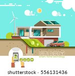 green energy and eco friendly... | Shutterstock .eps vector #556131436