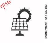 solar collector grey icon.   Shutterstock .eps vector #556132102