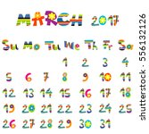 cute march 2017 calendar for...   Shutterstock .eps vector #556132126