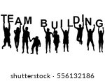 team building concept with... | Shutterstock .eps vector #556132186