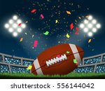 rugby in american football... | Shutterstock .eps vector #556144042